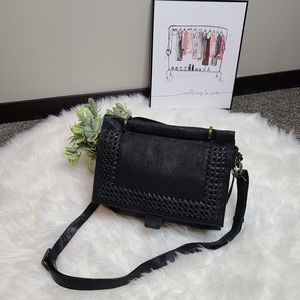 Nino Bossi Black Genuine Leather Crossbody Bag